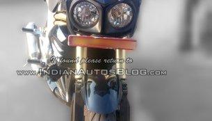 Showroom-spec Mahindra Mojo snapped up-close - Spied