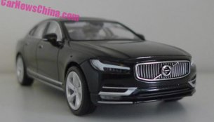 New photos offer better look at Volvo S90 1:43 scale model - Report