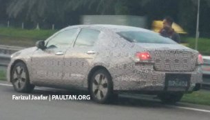 2016 Proton Perdana test mule reveals new side profile - Spied