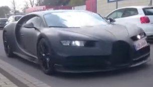 Bugatti Chiron spied with Veyron, Porsche 918 Spyder and BMW i8 - Video