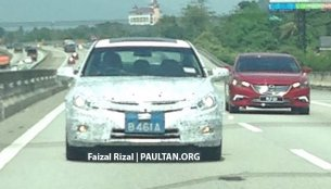 New Proton Perdana exterior caught up close - Spied