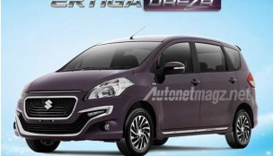 Suzuki Ertiga Dreza with new front design leaked in Indonesia - Report