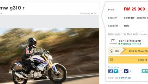 BMW G310R listed on Malaysian classifieds website for INR 4.11 lakhs - Report