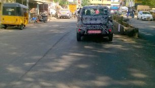 Production Datsun redi-Go seen testing in Chennai - Spied