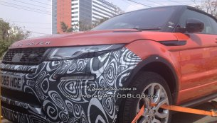 Range Rover Evoque Convertible spied in India for the first time