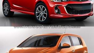 2017 Chevrolet Sonic (facelift) vs Older model - Old vs New