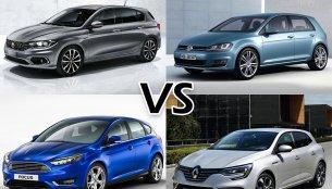 Fiat Tipo vs. VW Golf vs. Ford Focus vs. Renault Megane – Comparo