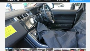 2017 Range Rover Sport's interior spied for the first time