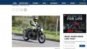 Triumph working on a new Scrambler - Spied