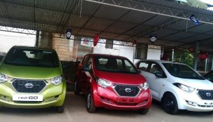 Datsun redi-GO arrives at dealership ahead of launch