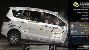 Suzuki Ertiga scores 4/5 in ASEAN NCAP crash test