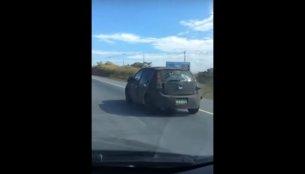 Fiat X6H (next-gen Fiat Punto) caught on video
