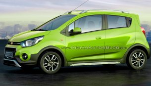 Chevrolet Beat Activ rendered in all existing colors