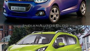 Next-gen Chevrolet Beat vs current Chevrolet Beat - Old vs New
