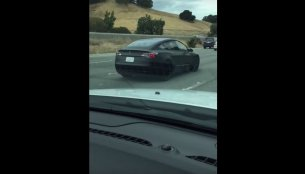 Tesla Model 3 spied testing on a highway