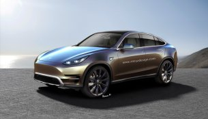 Tesla Model Y crossover - Rendering