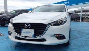 2016 Mazda3 (facelift) spied up-close revealing design changes