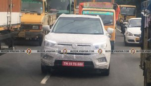 Ssangyong Tivoli compact SUV spied in Chennai