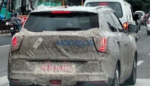 Ssangyong Tivoli spied up-close in Chennai