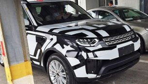 2017 Land Rover Discovery spied on test in China