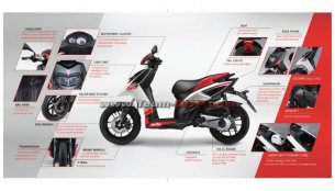 Aprilia SR 150's brochure leaked ahead of launch