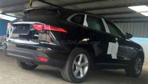 Jaguar F-Pace spied at dealer stockyard in India ahead of launch