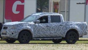 Mercedes GLT pickup spied on video