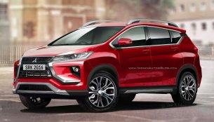 Production Mitsubishi XM crossover (Honda BR-V rival) - Rendering