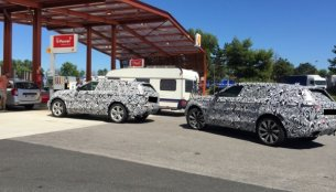 Range Rover Coupe spied showing sporty roofline