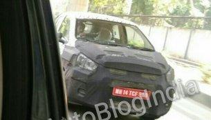 Next-gen Chevrolet Beat with beige interior spied in Delhi
