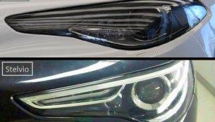 Image of the Alfa Romeo Stelvio's headlamp surfaces