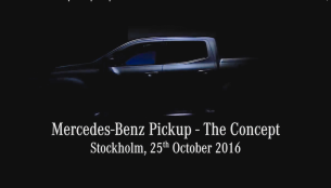 Mercedes Pickup concept teased, to be unveiled on Oct 25 [Video]