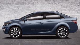 Tata Premium Sedan (Tata X451-based sedan) - Rendering