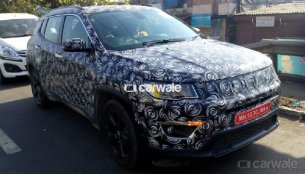 2017 Jeep Compass spied up close in Mumbai