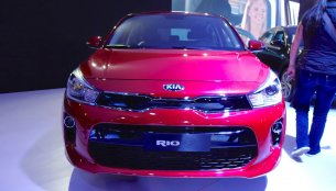 2017 Kia Rio hatchback showcased at the Bogota Motor Show