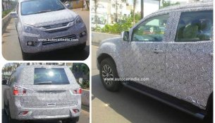 Isuzu MU-X spied in India for the first time