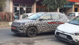 2017 Jeep Compass spotted testing in Himachal Pradesh