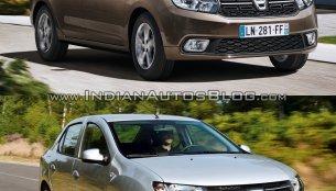 2017 Dacia Logan sedan vs. 2012 Dacia Logan sedan - Old vs. New