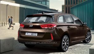 Rear-end of the 2017 Hyundai i30 Tourer illustrated