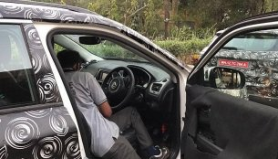 Interior of the India-spec Jeep Compass spied