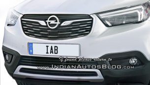 Opel Crossland X full front-end rendered