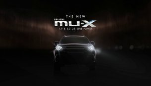 2017 Isuzu MU-X (facelift) teased, to be launched in March - Thailand