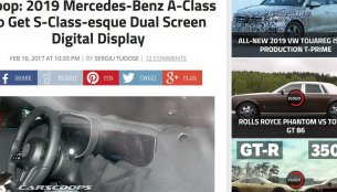 2018 Mercedes A-Class to feature dual display, spyshots show