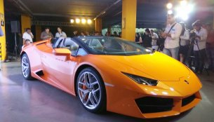 Lamborghini Huracan LP580-2 (RWD) Spyder launched at INR 3.45 crore