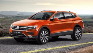 Front & rear of the VW T-Cross rendered