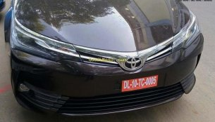 2017 Toyota Corolla Altis (facelift) spied in India ahead of its imminent launch