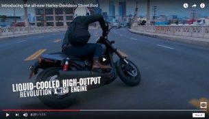 Harley Davidson Street Rod 750 detailed in video