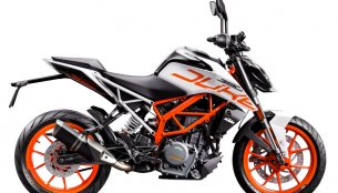 KTM Duke 390 available in a limited edition white paint scheme