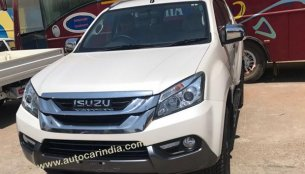 Isuzu MU-X spied undisguised in India ahead of 11 May launch