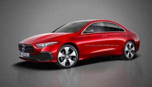 Mercedes A-Class Sedan rendered in production form